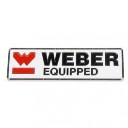 Weberselvklbendemetalskilt100x30mm-20